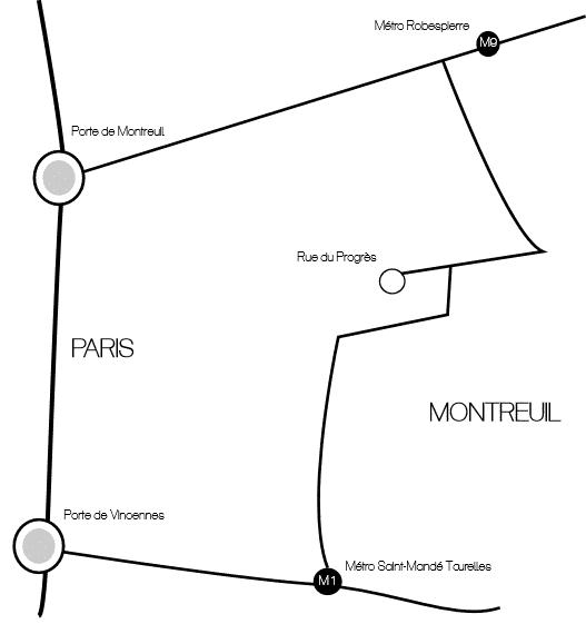 Carte itinéraire agence